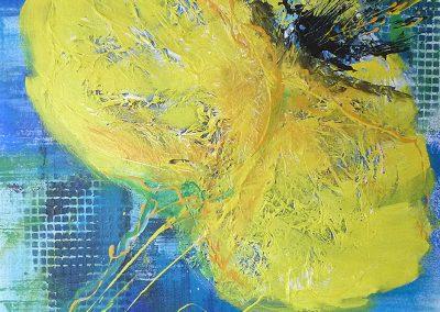 gelber Mohn 40x50